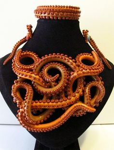 When you are very rich (£200+) I'd like a set like this one (but different colours) commissioned: Fall Tentacle Necklace Set LS07 by WalkingSquid on Etsy - also see: https://www.facebook.com/media/set/?set=a.560488524020987.1073741843.252768528126323&type=1