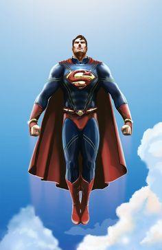 superman artwork   Realistic Superman Redesigned. by michealoduibhir