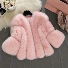 Pink Faux Fur Coat, Fox Fur Coat, Fur Coats, Iaso Tea, Blazer, Coats For Women, Jackets For Women, Leggings, Fashion Week