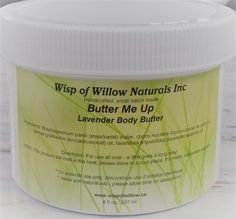 Wisp of Willow Naturals Butter Ingredients, Lavandula, Whipped Body Butter, Avocado Oil, Natural Skin Care, Lavender, Nature, Naturaleza, Organic Skin Care