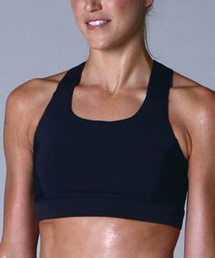 Look at this Black Full Force Sports Bra on #zulily today!
