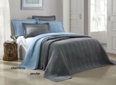3-piece Pewter Grey Solid Plaid Brushed Microfiber Cotton Filled Bedspread Coverlet Set King Size JD Home http://www.amazon.com/dp/B00EZW8O2K/ref=cm_sw_r_pi_dp_ftoPtb1CHVHW1T15