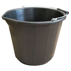 Black Plastic 13 L Bucket | Departments | DIY at B&Q