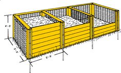 three-chambered compost bin project plans