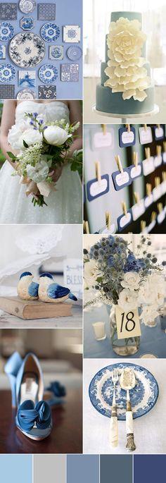 Top 5 Blue Wedding Color Palette Ideas You Will Love   http://www.deerpearlflowers.com/top-5-blue-wedding-color-palette-ideas-you-will-love/