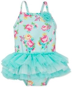 Little Me 1-Pc. Floral-Print Tutu Swimsuit, Baby Girls (0-24 months) - Floral 6-9 months