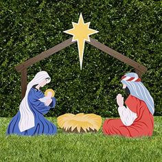 Outdoor Nativity Store Classic Outdoor Nativity Set - Full Scene Add a colorful message to any yard, garden, or church. The Classic Outdoor Nativity Christmas Nativity Set, Christmas Yard Art, Christmas Wood, Christmas Crafts, Family Christmas, Christmas Holiday, Outdoor Nativity Sets, Yard Nativity Scene, Nativity Scenes