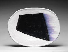 Jun-Kaneko (1942 - ) - raku oval
