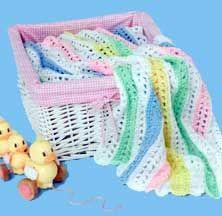 Quick Crochet Stripes blanket LW1491 | Purple Kitty  - mile a minute blanket