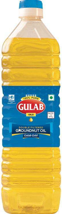 Bring Groundnut Oil to your doorstep. 100% pure Refined Groundnut Oil with zero cholesterol. Buy filtered Mungfali Oil, Groundnut Oil Online in India at Gulab Oils.