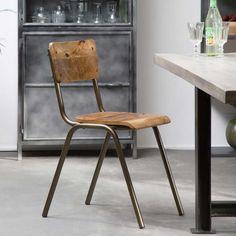 Chaise vintage : 21 modèles esprit rétro Grande Table A Manger, Chaise Vintage, Dining Chairs, Metal, House, Furniture, Style Vintage, Home Decor, Versailles