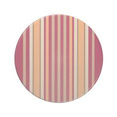 Stripe Series---Pink & Tan coaster