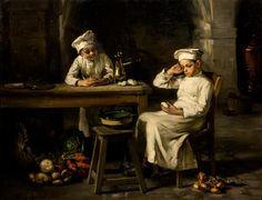 * Joseph Bail, (French, 1862-1921), Taking a Break