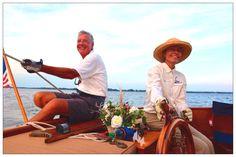 Our Crew: Capt Iris & 1st Mate Frank aboard Sail Selina II, St Michaels MD, Chesapeake Bay