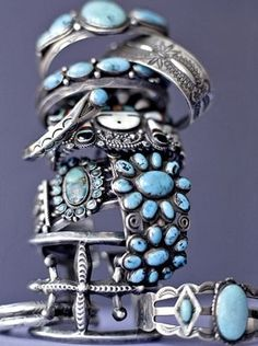 Hippie Bohéme Blue Boho hippy gypsy Cuffs - For more follow www.pinterest.com/ninayay and stay positively #pinspired #pinspire @ninayay