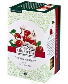 Ahmad Tea Cherry Dessert травяной чай в фольгированных пакетиках, 20 шт Ahmad Tea, Cherry Desserts, Herbal Tea, Herbalism, Caffein, Tasty, Fruit, Food, Herbal Medicine