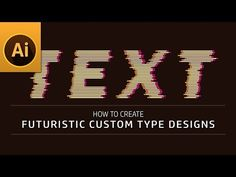 """Hi today, I am going to show you """"futuristc custom type designs in adobe illustrator"""". And also, this tutorial how to customize font to futuristic or decorat. Adobe Illustrator Tutorials, Photoshop Illustrator, Type Design, Logo Design, Graphic Design, Photoshop Tutorial, Futuristic, Illustrators, Ps"""