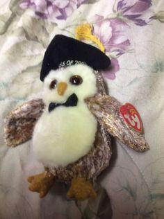 2002 Ty Beanie Babies Smarter Owl Plush Ty Beanie Babies Owl Plush Beanbag   Ty 39bd9f8d2e22