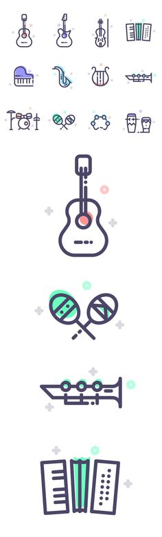 Ideas Music Icon Design Inspiration For 2019 Icon Design, Line Design, Web Design, Flat Design, Music Doodle, Doodle Icon, Logos Online, Ligne Claire, Art Icon