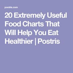 20 Extremely Useful Food Charts That Will Help You Eat Healthier | Postris