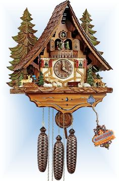 Save money and Learn about the Schneider Forest Wildlife cuckoo clock. Discover how LOW PRICE, FREE SHIPPING and our GUARANTEE make us the only place to buy model 4C8-8tmt-2654-9-g2.