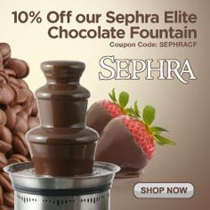 Sephra Elite Home Chocolate Fountain Discounted Get details at http://www.pntrac.com/t/SEFGTERKTUFFRUdNRElBR0hKSUs #candies #chocolates