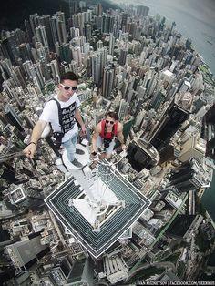 Hong Kong Rooftop Selfie by beerkus