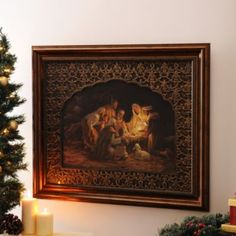 #framed art #Christmas art #Away in a Manger Framed Art Print | Kirkland's