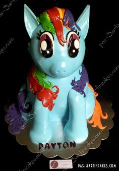 My Little Pony Rainbow Dash Cake!!