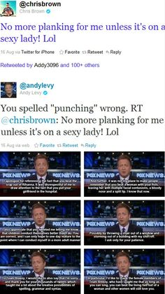 No matter how much you hate Fox News, you cannot deny the ownage Andy Levy laid on Chris Brown. (via imgur)
