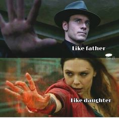 And just like that, I learned that in Marvel comics Magneto & Scarlet witch are Father and Daughter. Very interesting.