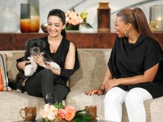 Archie Panjabi Shares Her Moms' Anti-Aging Facial: Archie Panjabi with Queen Latifah on The Queen Latifah Show.