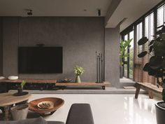 Zen Home Decor Online Zen Living Rooms, Living Room Grey, Home And Living, Living Room Decor, Living Room Zen Style, Modern Living, Painel Tv Sala Grande, Le Style Zen, Interior Design Living Room