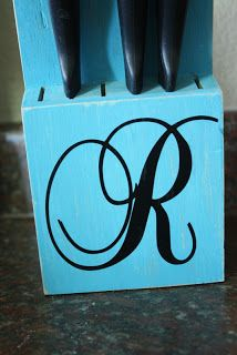 Painted knife block!