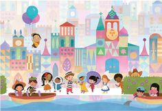 Small World Ride Print (Large). $40.00, via Etsy. This would be so cute in a kids' playroom!