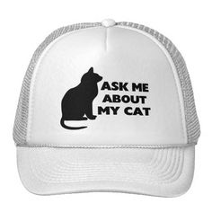 Ask Me About My Cat Mesh Hat