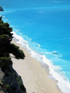 Lefkada, Greece. You will never see colors like this anywhere else <3