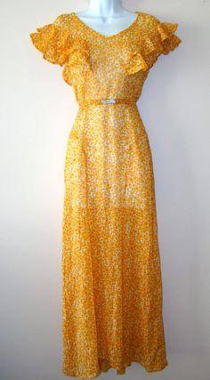 Antique Women's Clothing | Proper Vintage Clothing, Vintage Dresses - Floral 1930's Vintage Dress