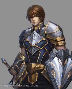 Swordman by chaosringen on DeviantArt Fantasy Male, Fantasy Armor, Anime Fantasy, Fantasy Weapons, Character Concept, Character Art, Character Design, Character Ideas, Concept Art