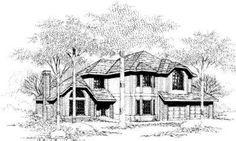 Contemporary House Plan 90558 Elevation