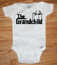 The perfect baby gift whether you are looking for the perfect the grandchild custom baby onsie available in any size great gift negle Image collections