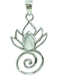 Lotus Flower Swirl Pendant Sterling Silver * Be sure to check out this awesome product.