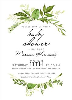 Items similar to Digital Baby shower invitation, Boho baby shower Shower, Greenery baby shower invitations, Garden shower, printed option on Etsy Boho Baby Shower, Baby Shower Invites For Girl, Bridal Shower Invitations, Baby Shower Parties, Baby Shower Themes, Baby Boy Shower, Shower Party, Shower Ideas, Wedding Stationery