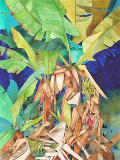 On Etsy! New Painting.Art Original Watercolor Painting of OLD BANANA TREES .they're actually plants, but everyone calls them trees. Hawaiian Art, Botanical Drawings, Botanical Art, Tropical Painting, Caribbean Art, Original Watercolor Painting, Tropical Art, Original Watercolors, Island Art