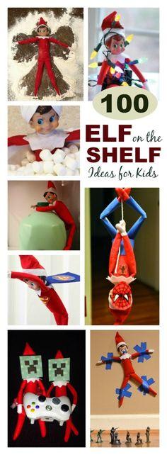 100+ GENIUS ELF ON THE SHELF IDEAS FOR KIDS- so many ideas I'd never seen!