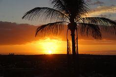 Beautiful sunset in Maspalomas, Gran Canaria.