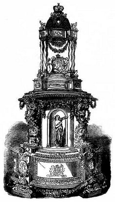 wedding cake of Queen Victoria's eldest daughter, Victoria 'Vicky' and crown prince Frederick William 'Fritz' of Prussia, 1858