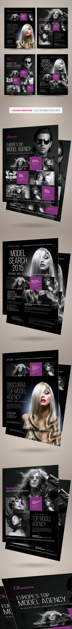 Model or Talent Agency Flyers on Behance