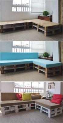 DIY porch pallet sofa