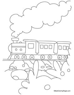 Train coloring page 3 | Download Free Train coloring page 3 for kids | Best Coloring Pages
